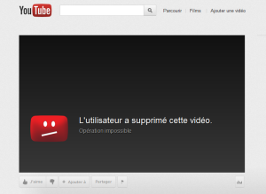 Campagne Youtube Emplacement Supprimé