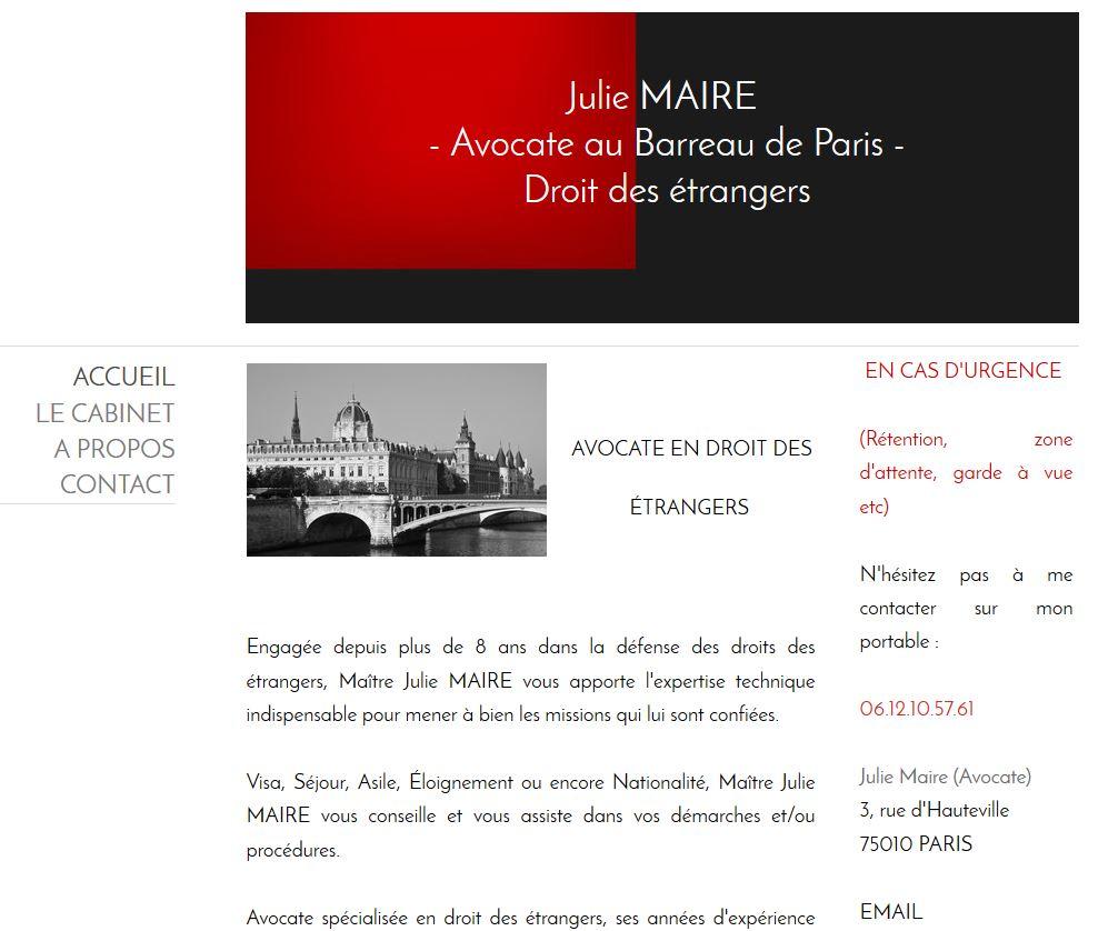 site web de Julie Maire avocate