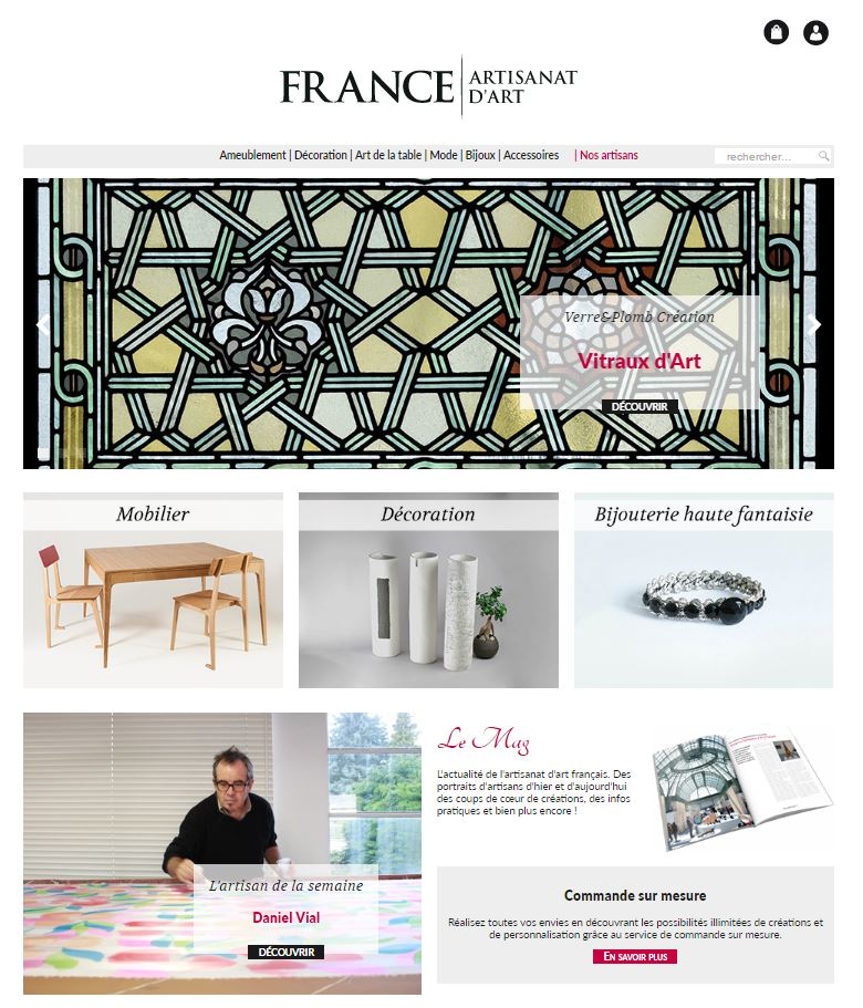 France Artisanat d'Art : la plateforme de vente de l'artisanat d'art français
