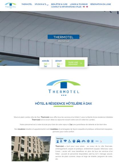 Thermotel - hôtel et résidence hôtelière à Dax