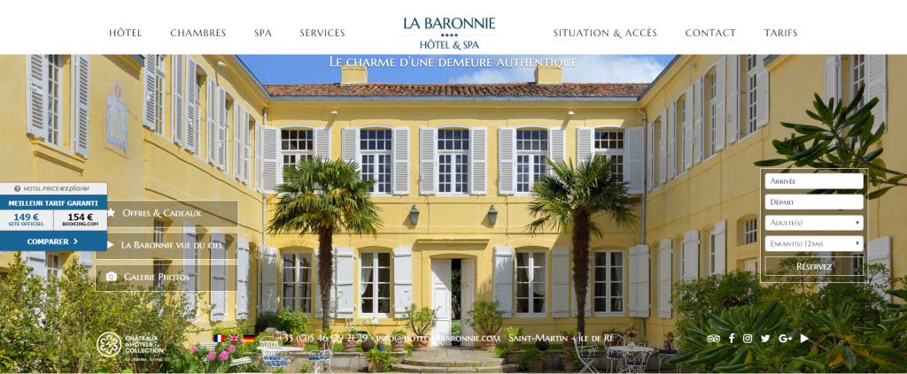 """Résultat de recherche d'images pour """"la baronnie ile de ré adresse"""""""