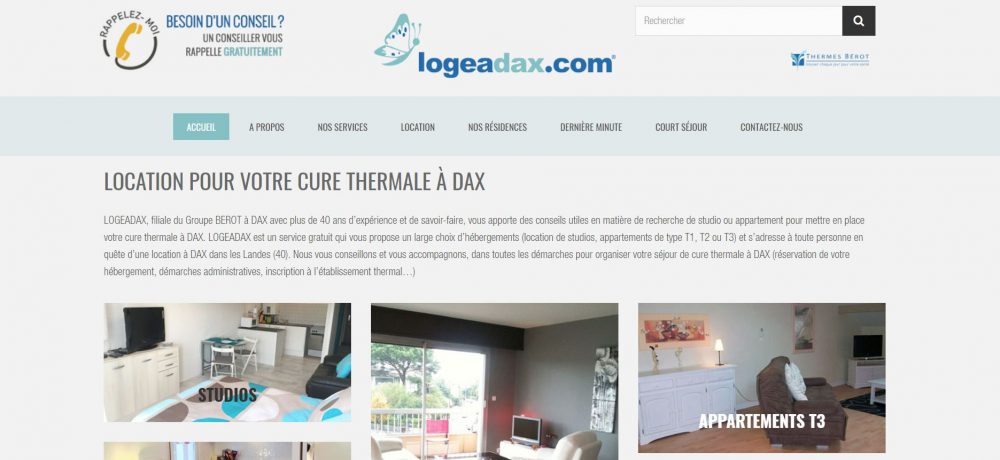 logeadax agence de location pour votre cure thermale dax triple lootz. Black Bedroom Furniture Sets. Home Design Ideas