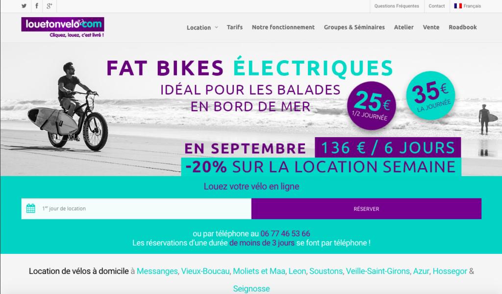 Louetonvelo - location de vélo avec livraison et récupération à domicile dans les Landes